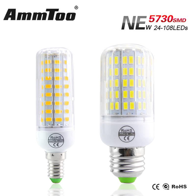 updated version smd5730 e14 led lamp fast heat dissipation bombillas led e27 con bulb 24 108leds. Black Bedroom Furniture Sets. Home Design Ideas
