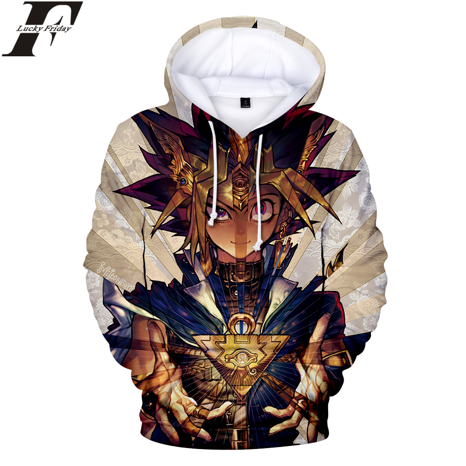 LUCKYFRIDAYF Duel Monsters 3D Hoodies Sweatshirt Anime Women/Men Hoodies Sweatshirt Fashion Casual Hoodies Clothes Plus Size 4XL