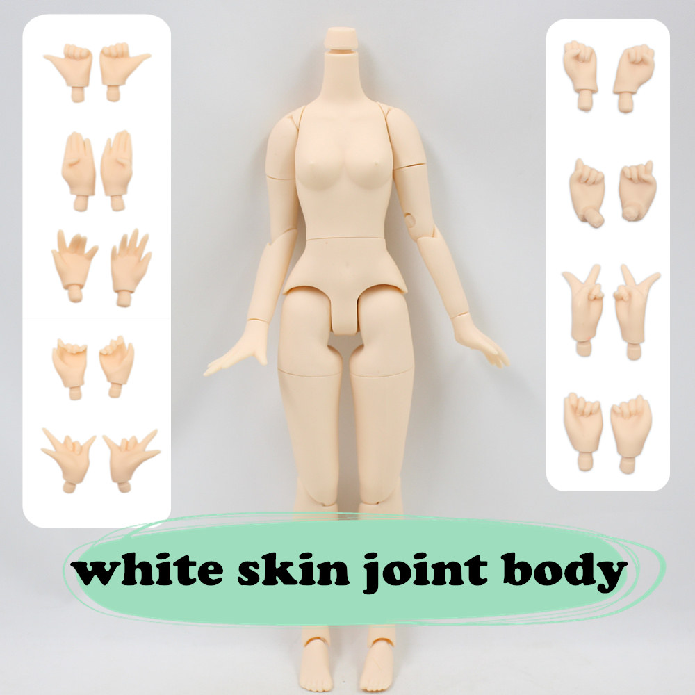 Fortune Day white skin joint body 8.5 inch about 21cm for blyth doll icy 1/6 все цены