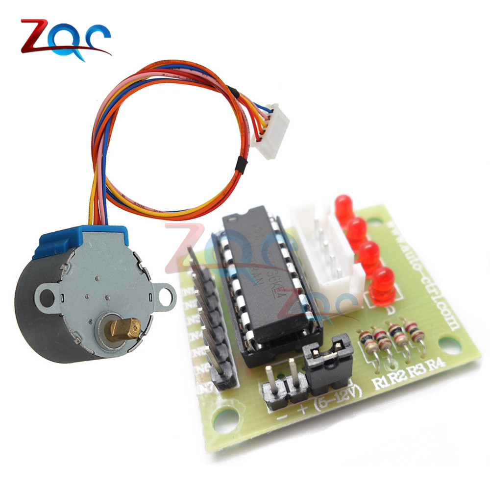 28BYJ-48 5V 12V 4 Phase DC Gear Stepper Motor + ULN2003 Driver Board for Arduino Compatible with UNO MEGA 2560 5v stepper motor 28byj 48 uln2003 driver test module for arduino