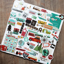 65 Pcs Travel Series Kertas Stiker Kit Die Cut untuk Diy Scrapbooking Sampah Jurnal Planner Album Foto Stiker Pembuatan Kartu s070(China)