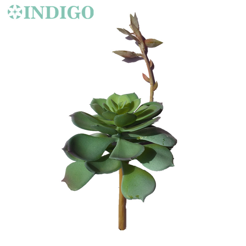 Grey Green Plant Agave Artificial Succulent Plant With Bud Plastic Flower Table Decoration Plant Wall Background Free Shipping