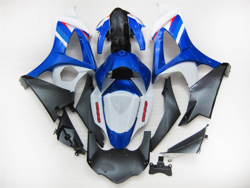 Upgrade your Fairing <font><b>kits</b></font> for <font><b>Suzuki</b></font> GSXR 1000 2007 2008 <font><b>GSXR1000</b></font> K7 <font><b>K8</b></font> motorcycle fairings <font><b>kit</b></font> 07 08 white blue AT12 image