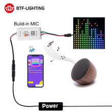 SP105E Bluetooth WS2811 WS2812B Led Music Controller SP107E SK6812 RGB/RGBW APA102 SP110E WS2801 Pixels Led Strip Leds DC5V-24V