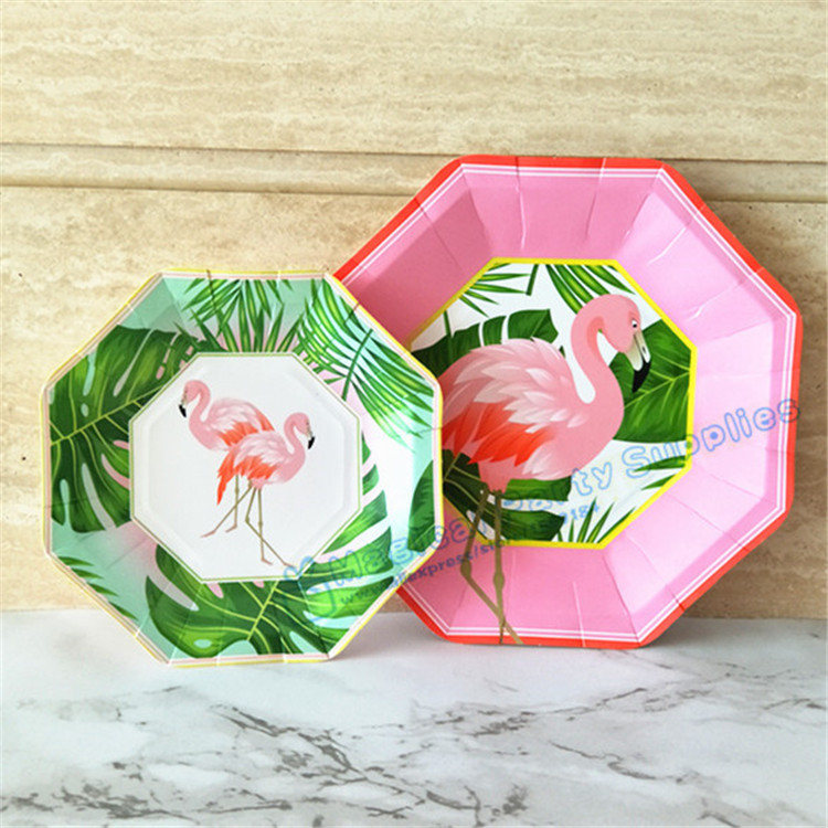 80pcs Island Oasis Flamingo Dessert Plates Small 7inch Large 9inch Paper Plates Luau Tropical Hawaiian Party Supplies Tableware-in Disposable Party ...  sc 1 st  AliExpress.com & 80pcs Island Oasis Flamingo Dessert Plates Small 7inch Large 9inch ...