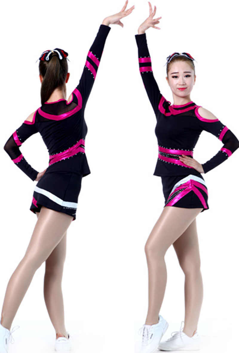 3fc9d8fbdc Professional Cheerleader Uniform Lycra Performance Sport Outfit Adult/Kid  Costume Pom pom Hairbow 5 Sets