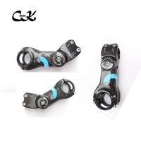 cycling king blue 15 2carbon stem can adjustable degree 0 45 stem road / mtb bike fork /handlebar parts top stem
