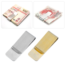 Fashion Simple Men Stainless Steel Money Clip Cash Note Credit Card Men Wallet Purse Worldwide sale Gold Money Clips