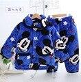 Crianças Pijamas Set Pijamas Meninos Extra Engrossar Inverno Crianças Mickey Pijamas Do Bebê Meninos Meninas Pijamas Infantis Pijamas