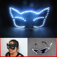 Free shipping led party glasses white Elvis glasses party glasses christmas decoration