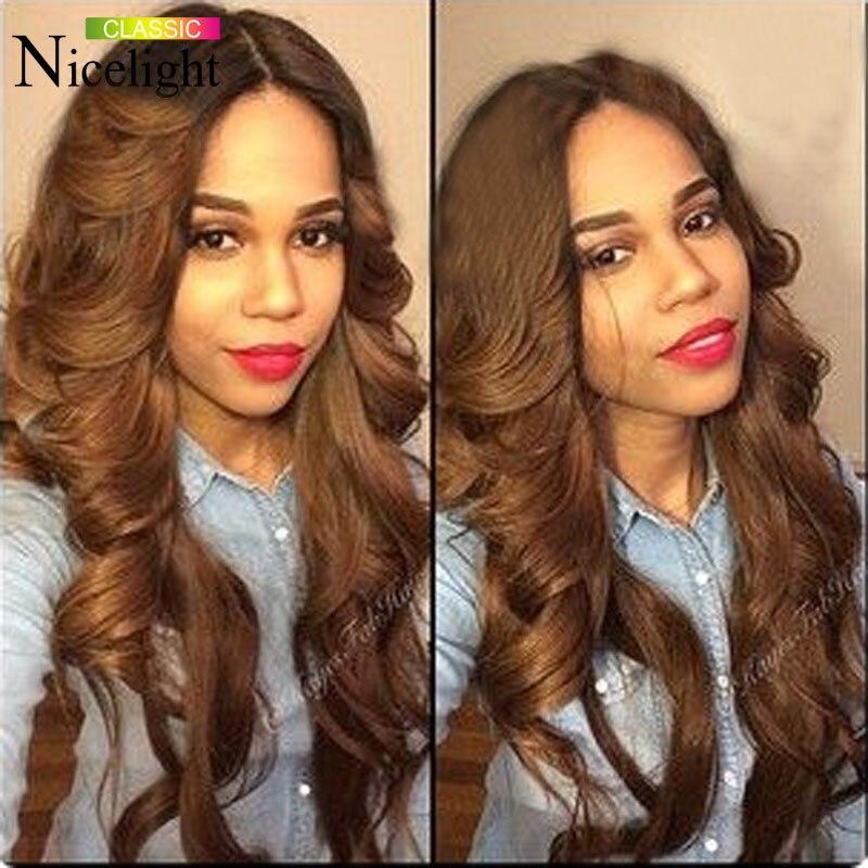 7a Peruvian Body Wave Virgin Hair Dark Light Brown Human
