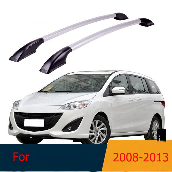 Roof Rack Boxes Side Rails Bars Luggage Carrier A Set For Mazda 5 M5 2008-2013 2009 2010 2011 2012