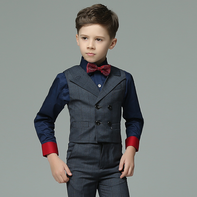 Toddler Boys 4pcs/set Pure Color Summer Long Sleeve Red Bowtie Decor Fashion Wedding Groom/Show/Performance Wear Blazers Sets модель автомобиля 1 18 motormax audi tt coupe