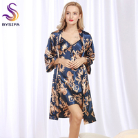 Summer Ladies Dragon Robes Fashion Home Lounge Women Luxury Silk Nightgown Robes Set New Design Brand