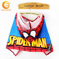 Fashion Baby Hooded Towel Cotton Spiderman Toalha De Banho Infantil Children Baby Bath Towel With Hat For 0-3 Years Old