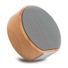 Текстура древесины Беспроводной Bluetooth Динамик портативный мини-сабвуфер аудио подарок стерео громкоговоритель звук Системы Поддержка TF AUX USB A60