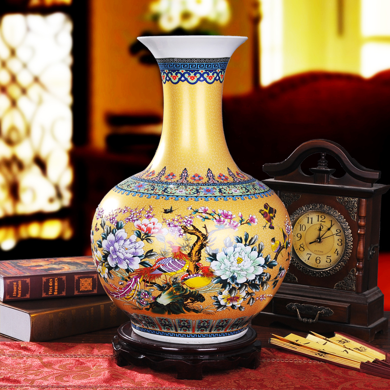 Luxury Jingdezhen Antique Porcelain Enamel Desgin Vase Big Floor