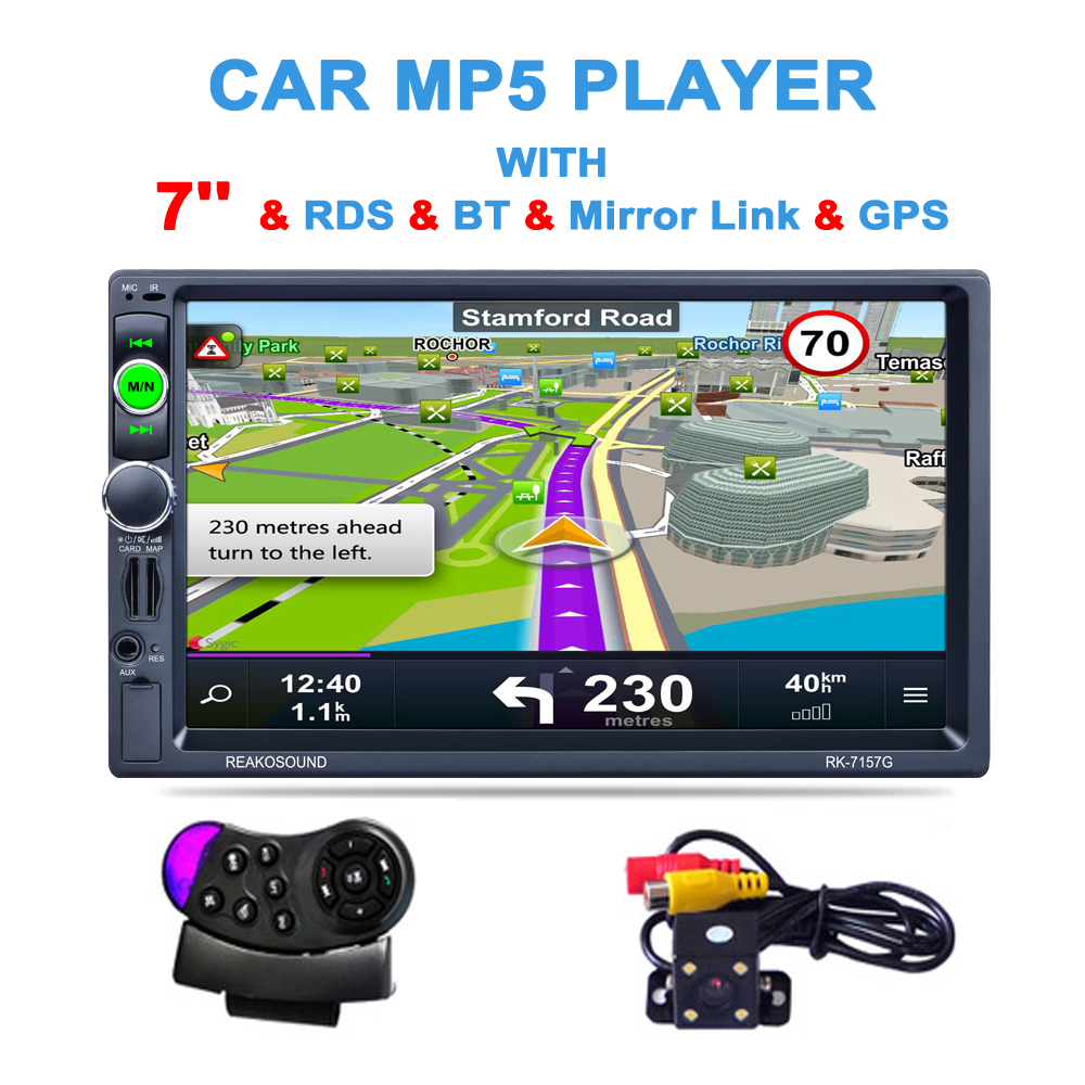 2 Din 7 inch HD GPS Car Navigation 800MHZ FM/8GB/DDR3 2017 Maps For Russia/Belarus Europe/USA+Canada TRUCK Satnav Camper Caravan gps навигатор lexand sa5 hd