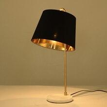 Современная лампа для гостиной, Табе, скандинавский тканевый абажур для спальни/кабинета, Настольный светильник, декоративный Настольный светильник