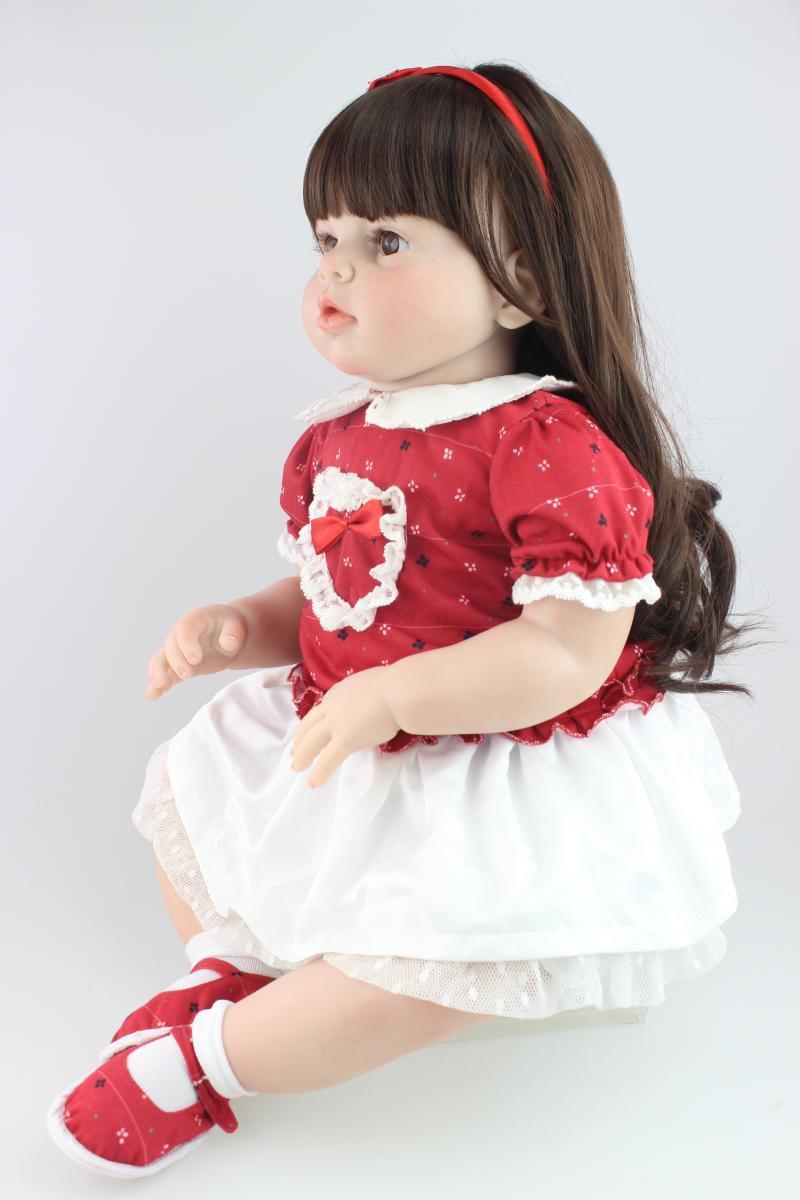 "Handmade Real Lifelike Toddlers Arianna Pretty Curly Hair Baby Reborn Doll 28/"""