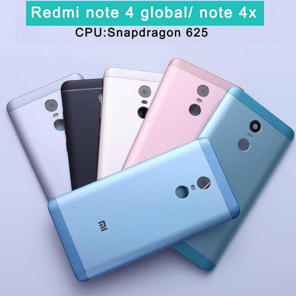Nouvelle batterie coque arrière pour Redmi Note 4X Redmi Note 4 Version globale boîtier + boutons de Volume + boutons d'alimentation