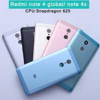 Nueva funda trasera de batería para Redmi Note 4X Redmi Note 4 Carcasa de versión Global + botones de volumen + botones de encendido