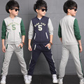Sporty Children Outerwear Clothing Sets Cotton Baby Boys Track Suit Kids Clothes Sets For 5-14 Years Old