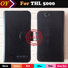 Factory Direct! thl 5000 Case 6 Colors Luxury Ultra-thin Leather Exclusive 100% Special Phone Cover Cases+Tracking factory direct dexp ixion m245 snap case 6 colors luxury ultra thin leather exclusive 100% special phone cover cases tracking
