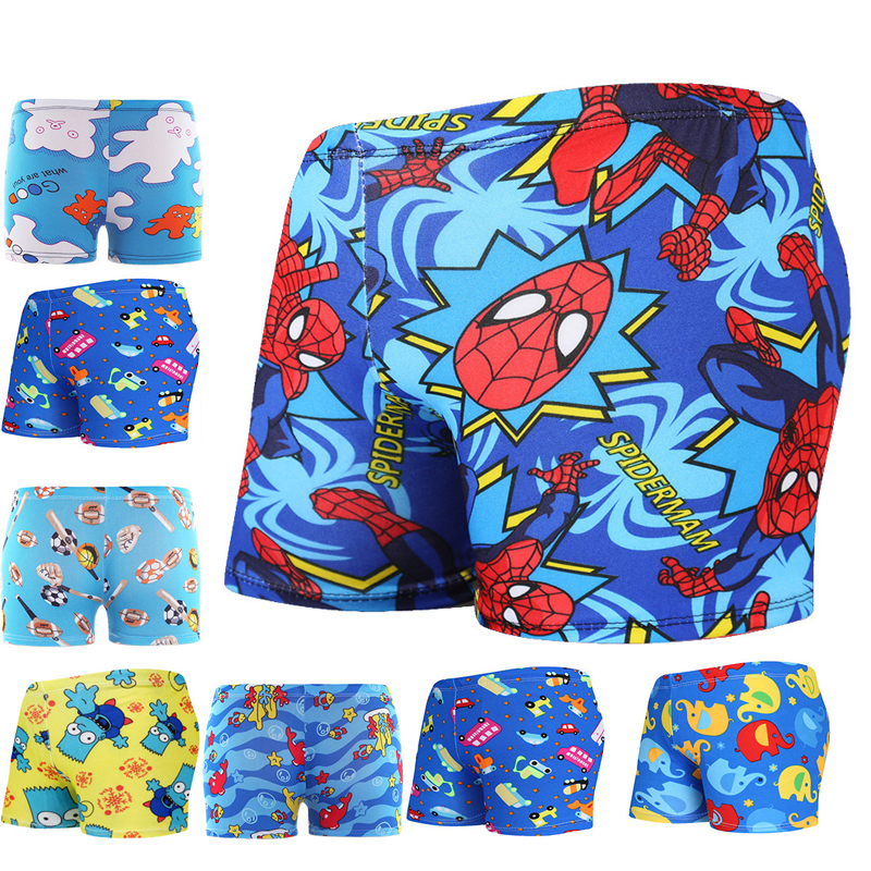 Shorts Swimsuit Pants Beachwear Boxer Swim-Pool Multi Boys Children Briefs Cartoon Cute title=