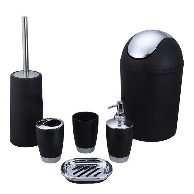 6 pz/set Casa Utili di Plastica Da Bagno Accessorio Per il Bagno Set Dispenser S