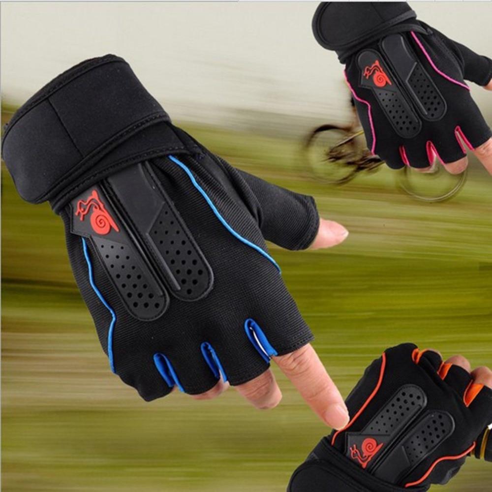 Luvas de ginásio de esportes metade do dedo respirável haltere de fitness luvas de levantamento de peso masculino feminino ginásio tamanho m/l/xl