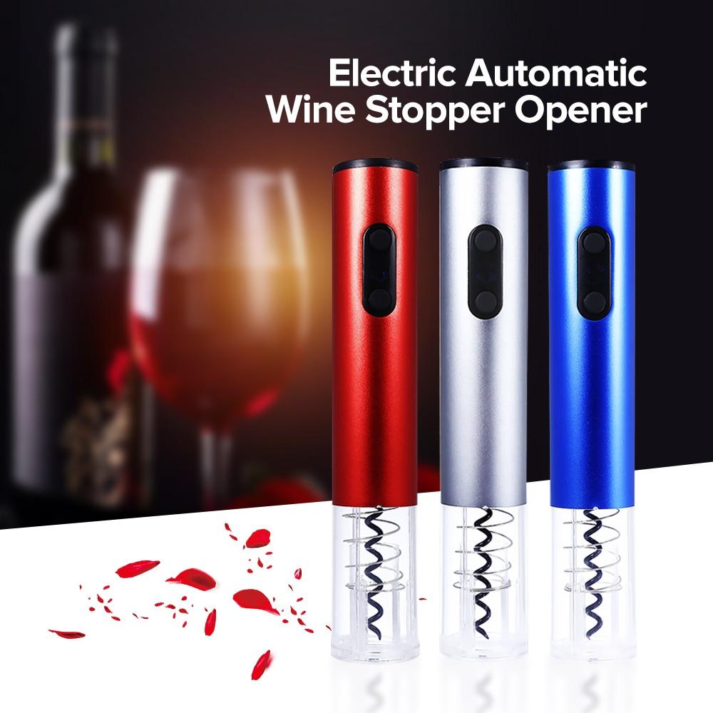 Original de vino eléctrico abrelatas sacacorchos automático botella de vino abridor Kit inalámbrico con papel de aluminio cortador y vacío tapón 2018 nuevo