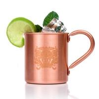 1pc HOMESTIA 450ml 16.0oz 100% Copper Mug Moscow Mule Durable Coppery Beer Mugs Coffee Mug Milk Cup Pure Copper Cup Drinkware