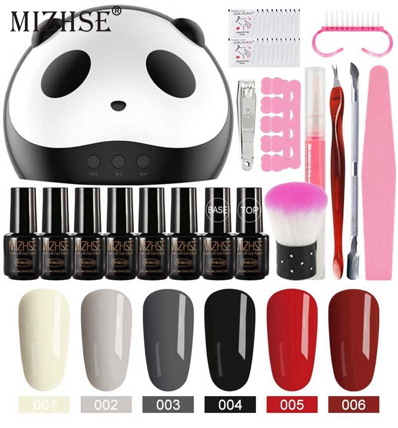 Mizhse Gel Nagellak Set Acryl Nail Kit Vernis Semi Permanant Uv Met Lamp Nail Kit 36W Uv Led lamp Voor Nail Art Sets Tool