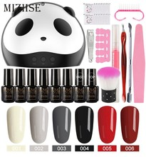 Mizhse Gel Nail Polish Set Acrylic Nail Kit Vernis Semi Permanant UV dengan Lampu Kuku Kit 36W UV LED lampu untuk Nail Art Set Alat(China)