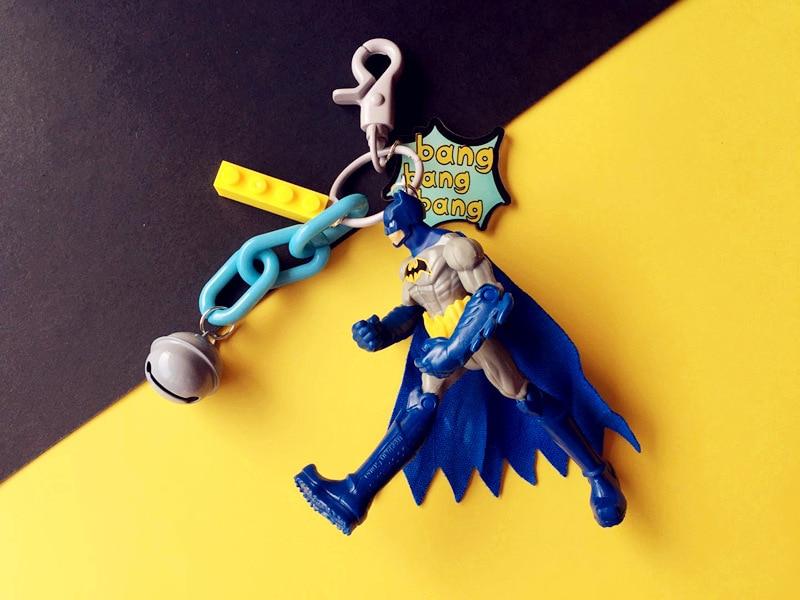 Marvel jewelry Cartoon Cute SuperHeroe Superman Batman Keychains The Avengers Keyring porte clef chaveiro key holder in Key Chains from Jewelry Accessories
