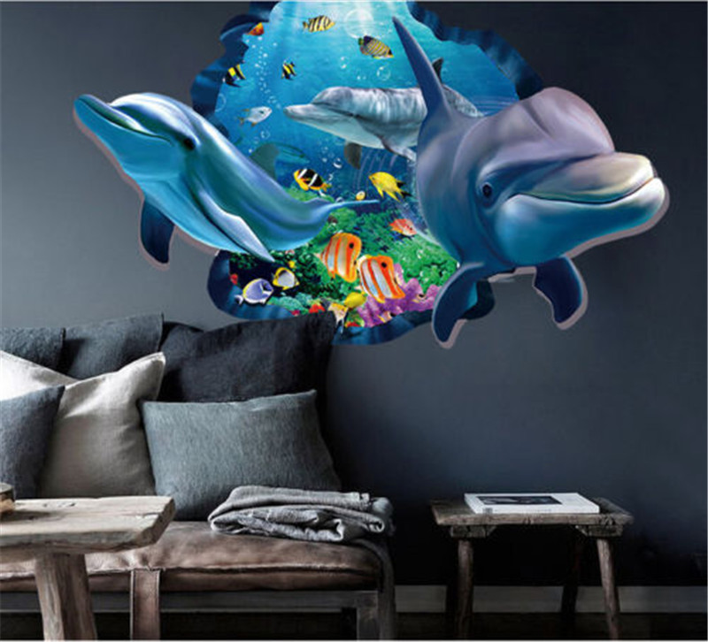 3D Ocean Seaview Removable Vinyl Decal Wall
