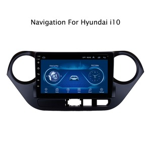 Android 10 Car Radio Super Slim Touch Screen GPS Navigation for Hyundai i10 left hand driving Stereo Multimedia with Bluetooth