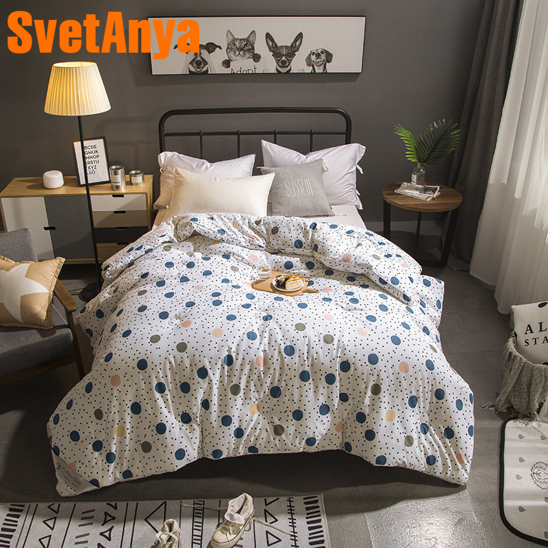 Svetanya Dot Print Quilt thick warm Throws Blanket 3d Plaids Mechanical Wash stiching ComforterSvetanya Dot Print Quilt thick warm Throws Blanket 3d Plaids Mechanical Wash stiching Comforter