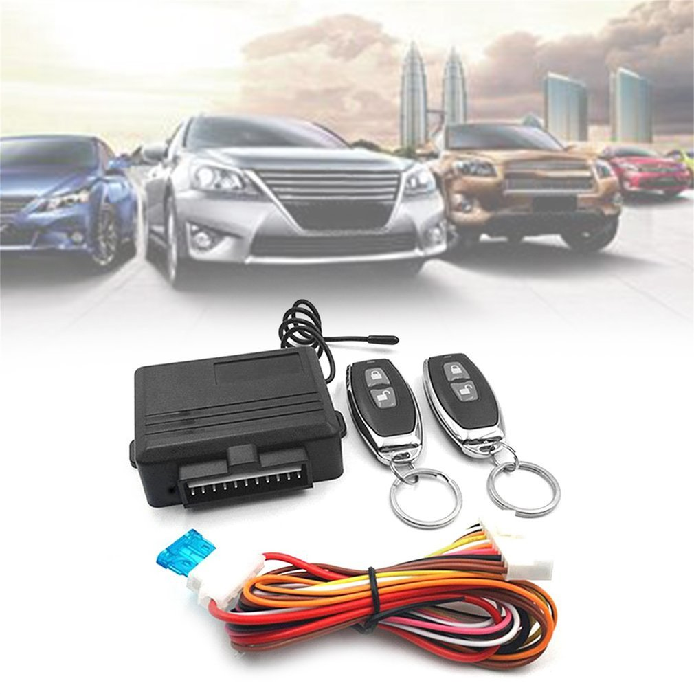 Car-Alarm-Systems-Device Door-Lock Vehicle Entry-System Remote-Control-Kit Universal title=