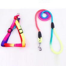 1pcs Pets dogs Supplies Colorful pet harness straps Dog leashes chains Nylon Materials Large medium and small