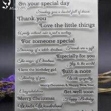 15X21 см ясный штамп для скрапбукинга Письма желаний поздравление с днем рождения альбом открытка тиснение ролик прозрачный штамп