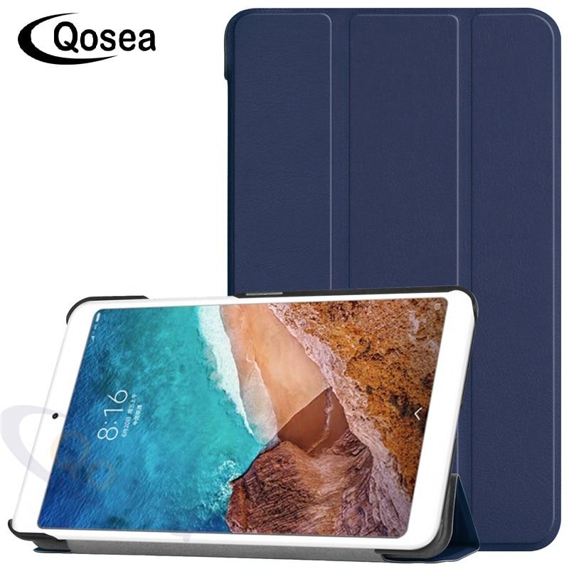Qosea 8 pouce 6 Couleurs Pour Xiao mi mi pad 4 Stand back Cover Tablet Pc Pour XIAO Mi Mi pad 4 Aimant PU En Cuir Smart Stand Cas