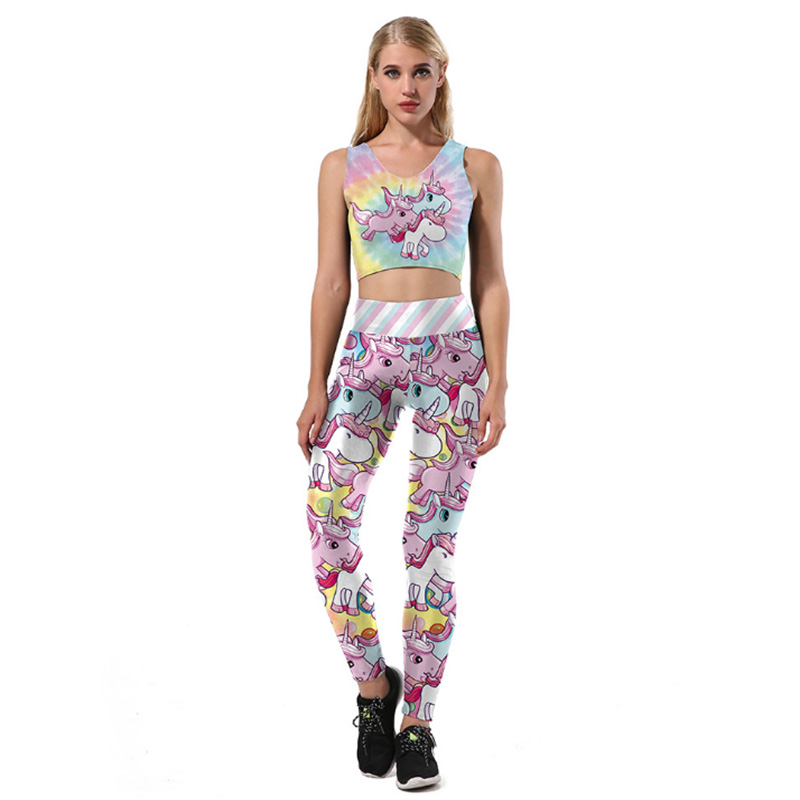 2017 New arrival womens yoga sets comfortable breathable female sportswear fitness gym breathable vest sport suit sets women