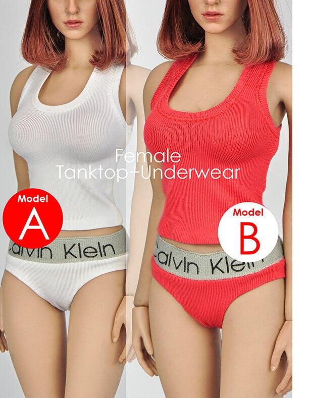 Tank Top für 12 Zoll Action Weibliche Unterwäsche Dessous 1//6 Scale