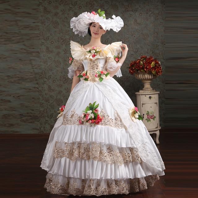 Medieval Court Dress Gown Costume Renaissance Fancy Dress-in Movie ...