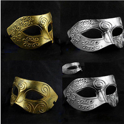 Venetian Mysterious Mask Roman Greek Emperor Masquerade Warrior Mens Knight Mask image