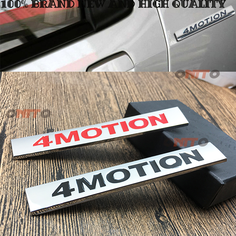 4 MOTION 4Motion car Side Badge Emblem Rear Trunk Decal For Golf 3 4 5 6 7 Polo Tiguan Passat CC car Styling image