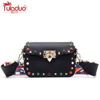 High Quality PU Leather Women Messenger Bags Fashion Color Rivet Design Women Shoulder Bags Color Shoulder