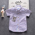 INMUSION 2017 summer fashion luxury famous brand children shirt classic striped boy short sleeve shirt high quality 2-7 years